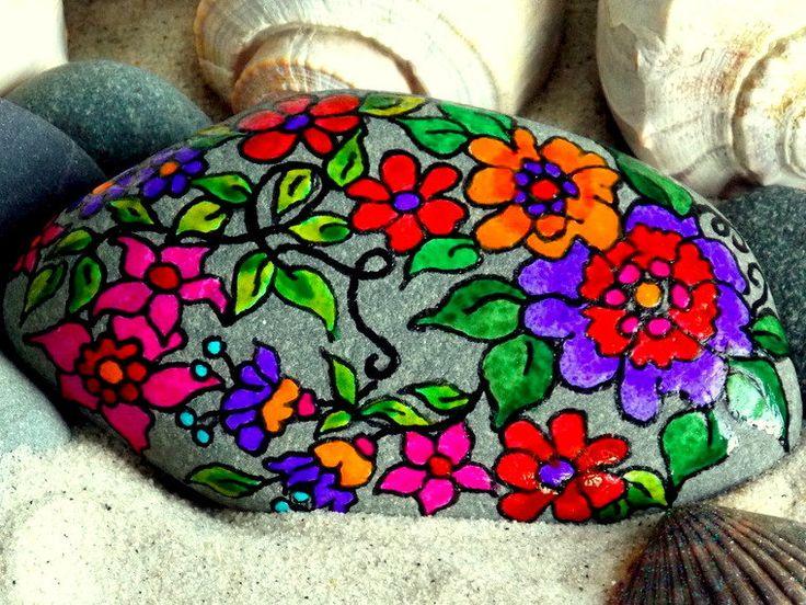 My secret garden painted rock sandi pike foundas - Painting rocks for garden ...