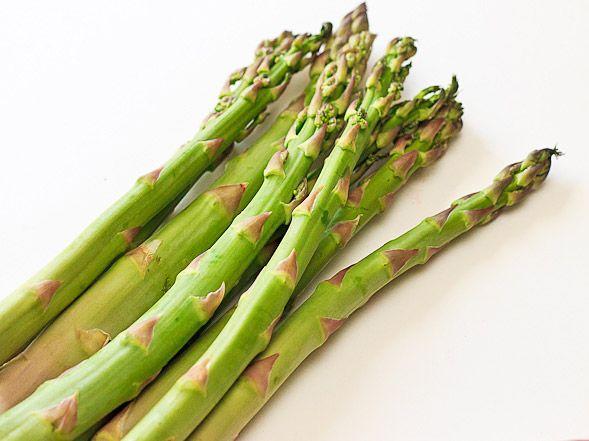 Asparagus Pecorino Onion Salad ingredients from Anne Burelle