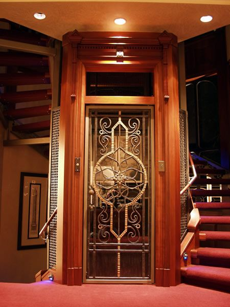 Home Elevator With Etched Door Home Elevator Pinterest
