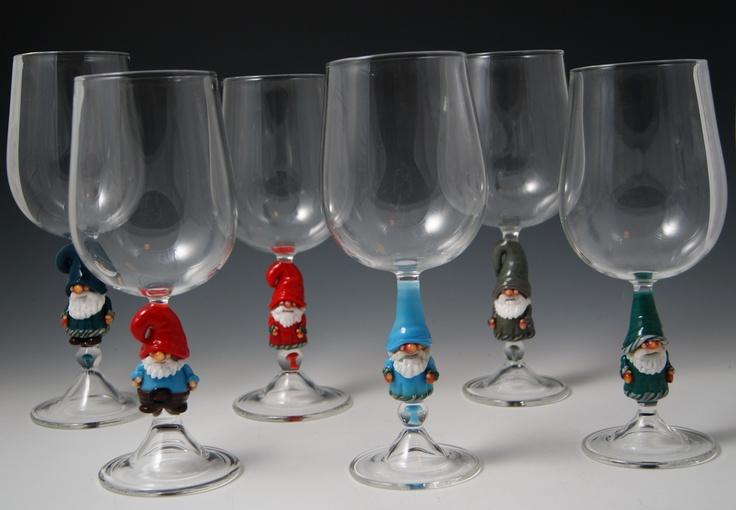 Gnome wine glasses onl...