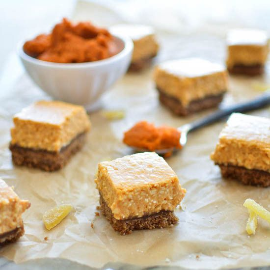 Ginger Pumpkin Cheesecake Bars | pumpkin recipes | Pinterest