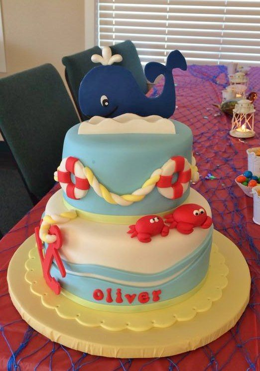 boy whale nautical baby shower cake crazy cool cakes pinterest
