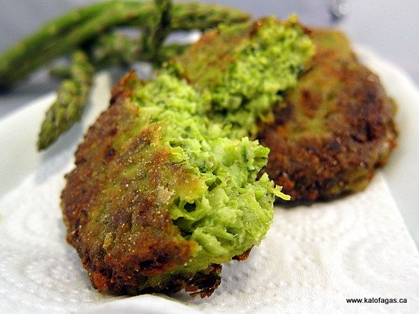 Asparagus And Feta Fritters Recipe — Dishmaps