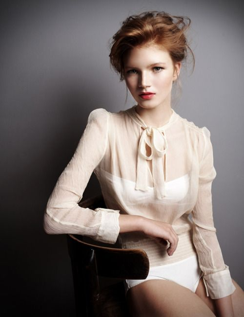 gorgeous blouse- and somehow she intuited my habit of not wearing pants whenever possible.