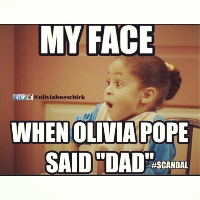 Scandal - Olivia Pope's dad, OMG