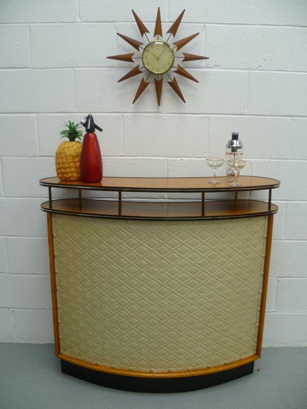 Retro Vintage 50s 60s Cocktail Drinks Cabinet Home Bar