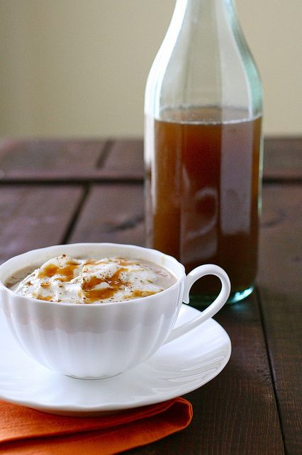 Pumpkin spice syrup for pumpkin spice lattes