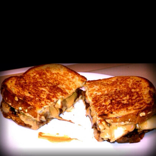 fried peanut butter, banana and nutella sandwich and I've tried it ...