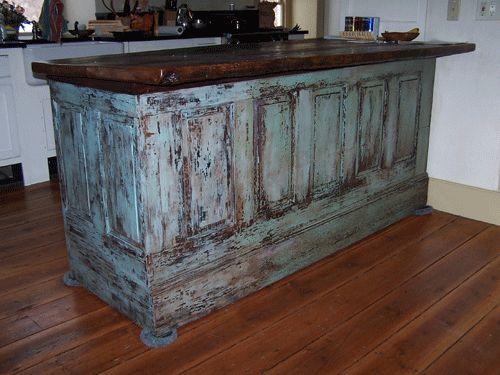 Antique kitchen island decorating style pinterest for Antique kitchen island