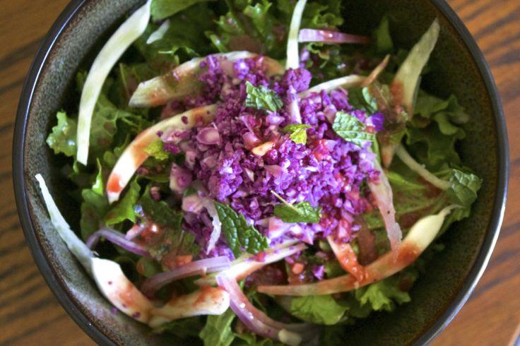 kale amp fennel salad w cauliflower rice amp miso citrus vinaigrette ...