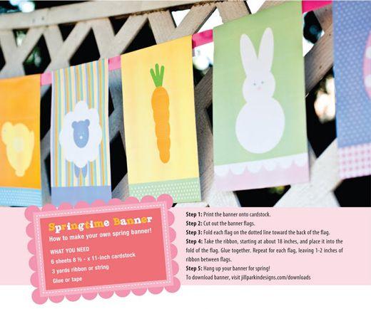 Free Easter printable banner