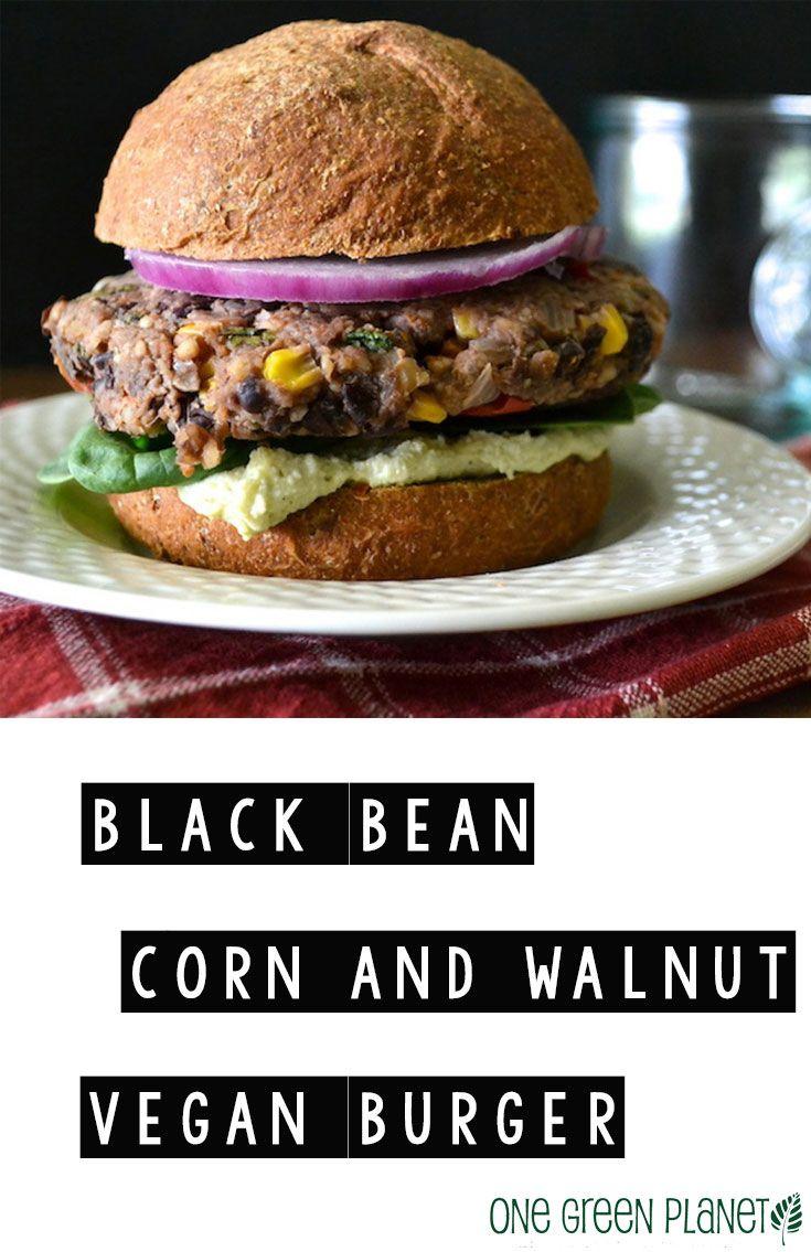 Black Bean, Corn, and Walnut Vegan Burger http://onegr.pl/1v4o9Ef # ...