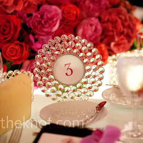 Glass Framed Table Numbers