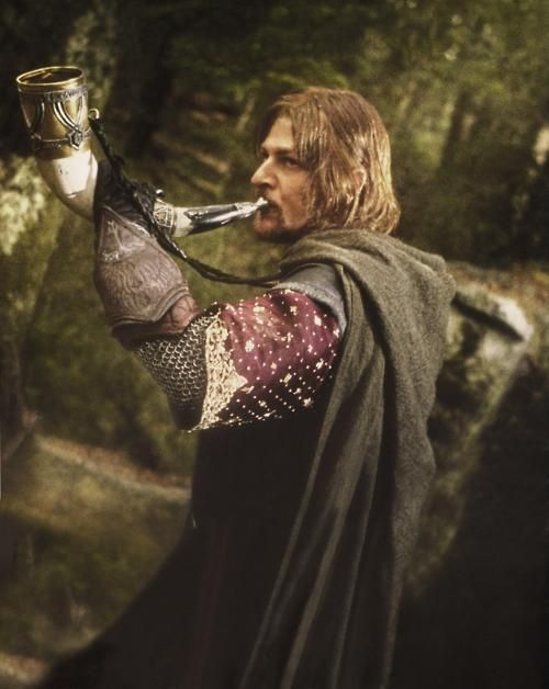 """Boromir's horn!"" (I just watched this movie)"
