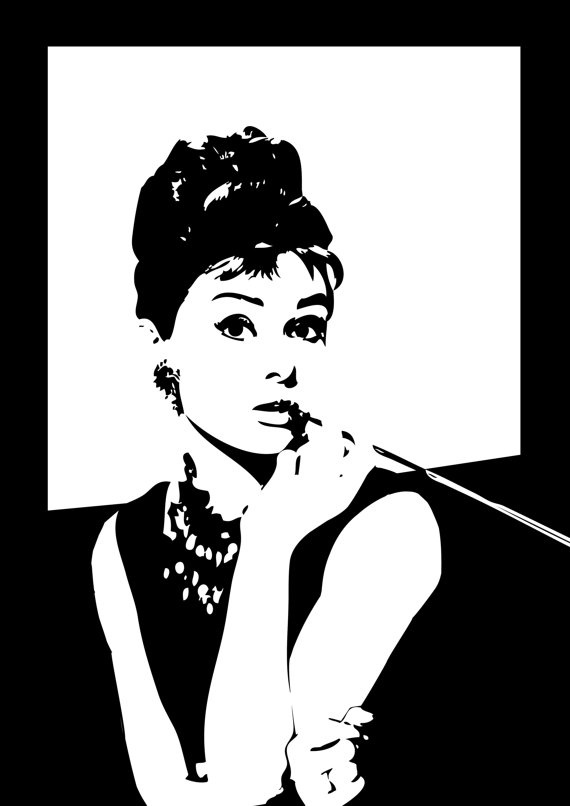 Audrey hepburn a3 poster print fits ikea ribba by for Ikea audrey hepburn
