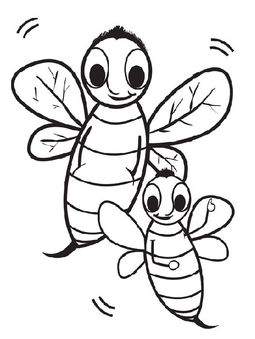 free coloring pages of 41 bee bee