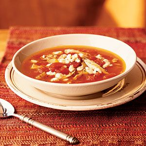 Superfast Soups | Tomato Soup with Chicken and Gorgonzola Cheese ...