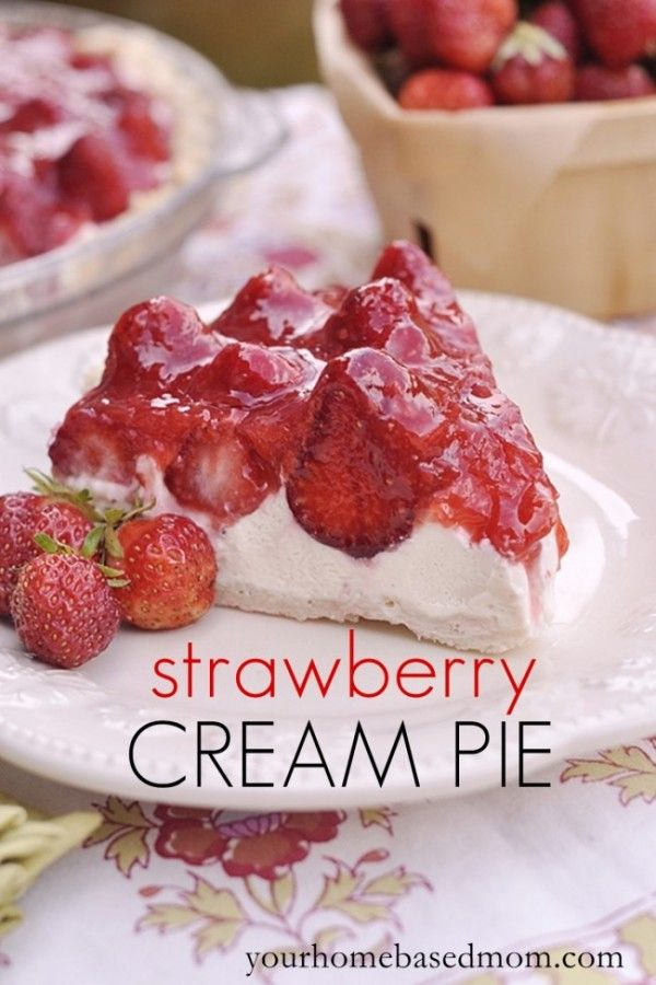 Strawberry Cream Pie recipe!