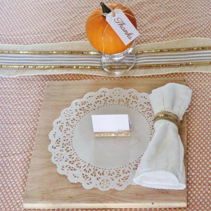 Elegant thanksgiving table setting may arts ribbon for Elegant thanksgiving table settings