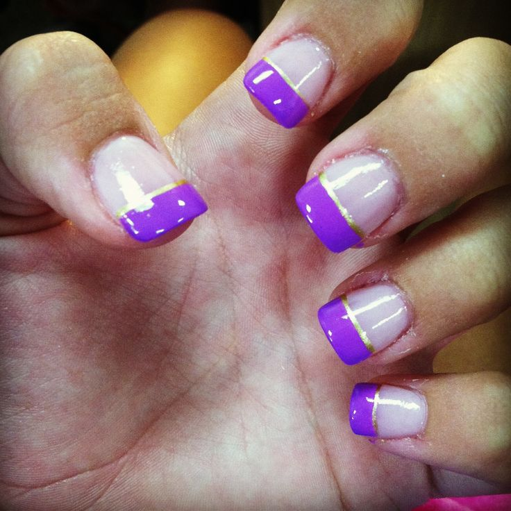 purple and gold nails nail art pinterest