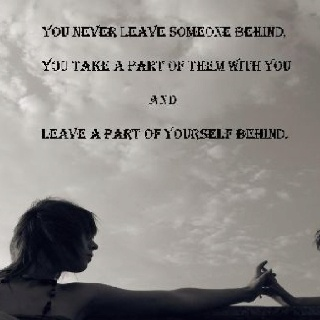 leaving someone behind quotes - photo #5
