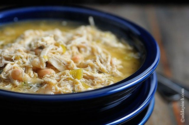 Easy White Chicken Chili full of spicy chili flavor -- perfect for ...