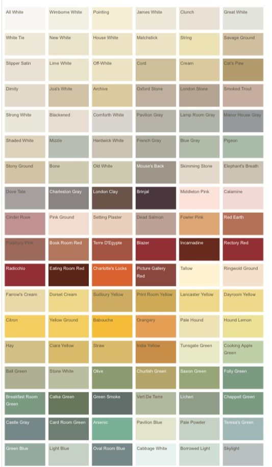 Farrow and Ball colours 1 | Toddler Bedroom - Shabby Chic | Pinterest