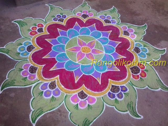 pictures Easy rangoli designs with dots