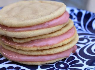 raspberry cream sandwich cookies - greens & chocolate