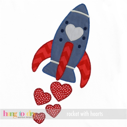 Rocket with Hearts