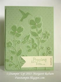 Fun stampin with margaret wildflower meadow sympathy