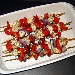 Marinated Greek Chicken Kabobs Allrecipes.com I made these last night ...