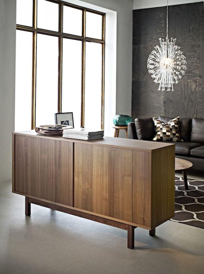 ikea stockholm buffet walnut veneer the poor house pinterest. Black Bedroom Furniture Sets. Home Design Ideas