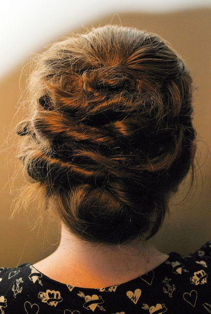 Twisty hair by Craig & Juliet, via Flickr