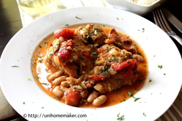 Chicken (Stew) with Tomatoes and White Beans HH: made this w/o the ...