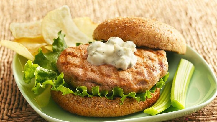 Buffalo-Blue Cheese Grilled Chicken Burgers | Recipe