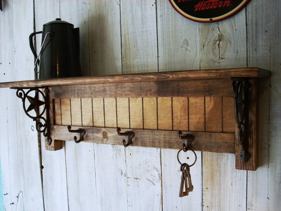 Western Wall Mounted Coat Rack