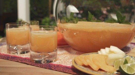 Mixed Melon, Lime and Coconut Agua Fresca Agua Fresca de Sandia, Meló ...