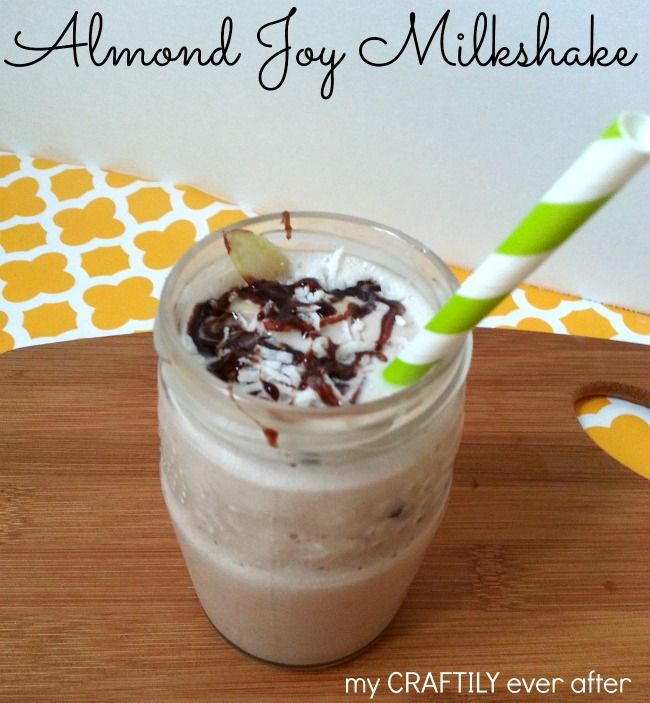 An #easy and delicious almond joy #milkshake | My Craftily Ever After