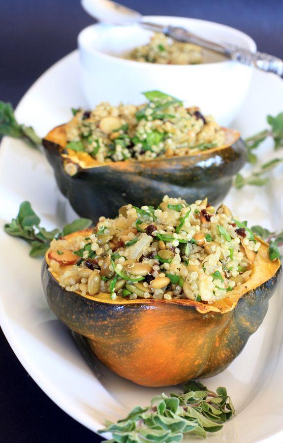 Quinoa Stuffed Acorn Squash | food and drink | Pinterest