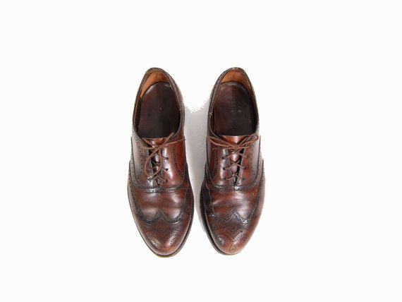 Women's 11 Brown Oxford Shoes // Women's by IntertwinedVintage, $45.00