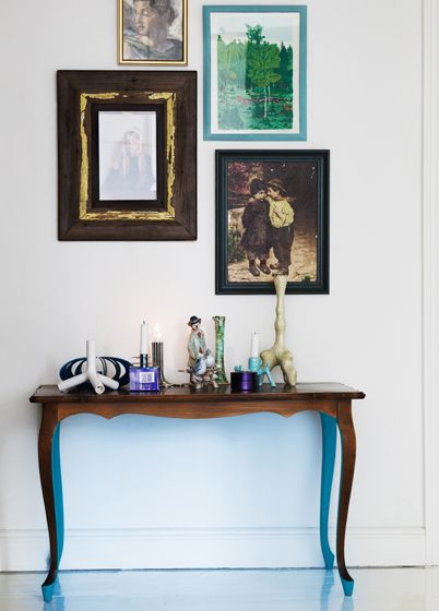 blue under painted table
