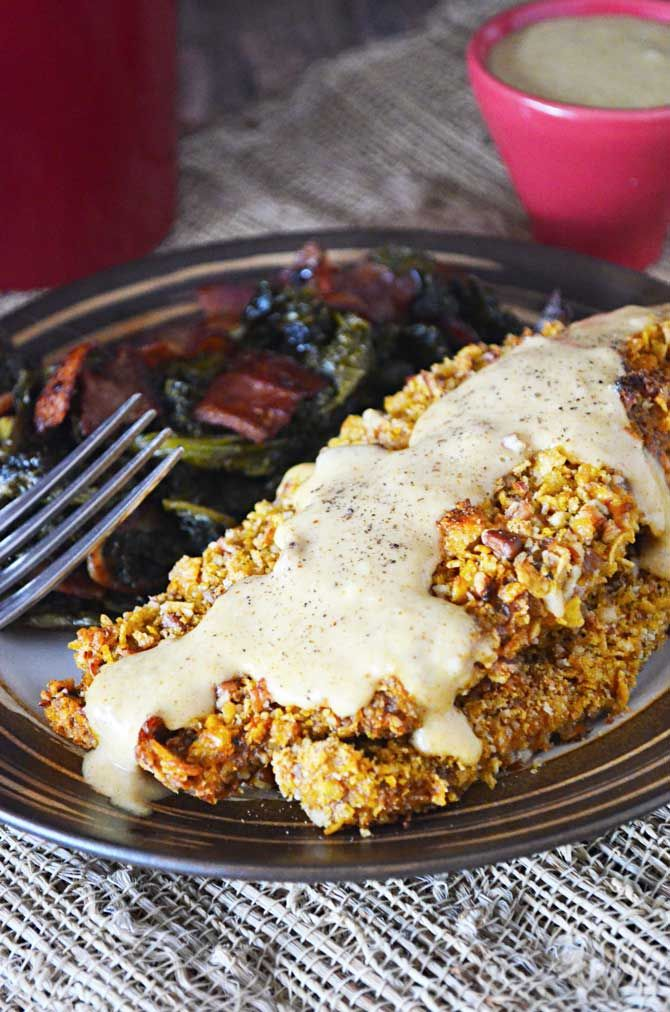 Pecan Crusted Cajun Catfish with Maple Dijon Sauce -- this came out ...