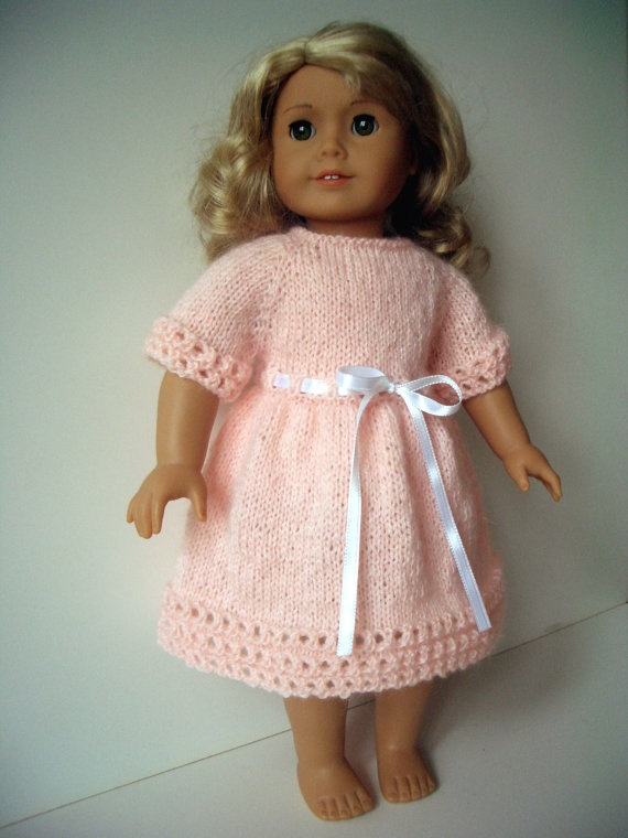 Doll clothes hand knitted spring Dress for AG by KNITnPLAY on Etsy, $13.99