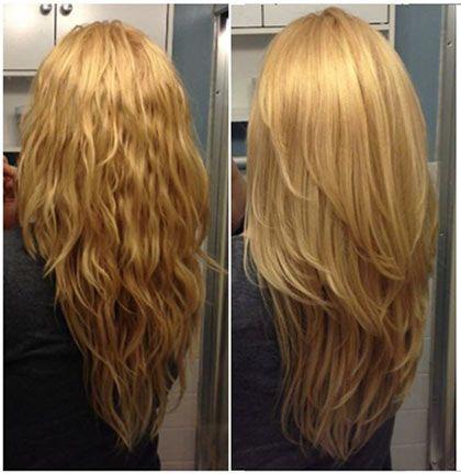 Каскад стрижка на длинных волосах