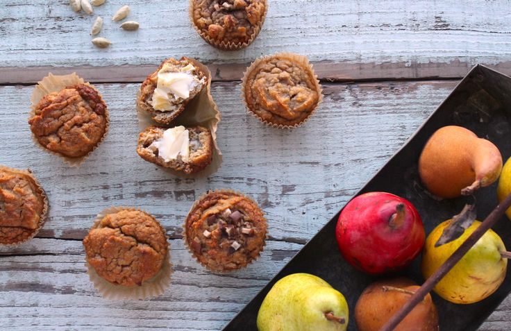 pear cardamom muffin | Fruit and veggie muffins | Pinterest