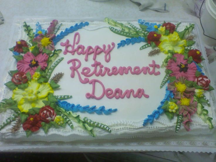 happy retirement Cake Decorating Ideas! :) Pinterest