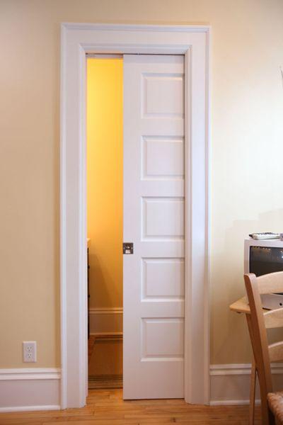 Jpg 400 215 600 pixels pocket door bathroom remodel pinterest