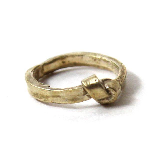 Brass single knot ring, $73.
