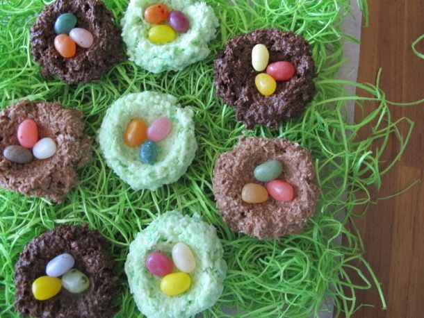 Chocolate Coconut Nests with Jelly Bean Eggs from Serious Eats (http ...